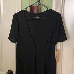 Reformation - Black Flowy Dress